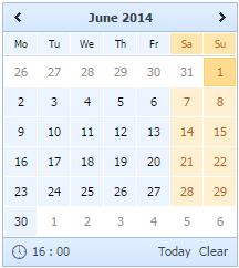 Operating Calendar DHTMLX Docs