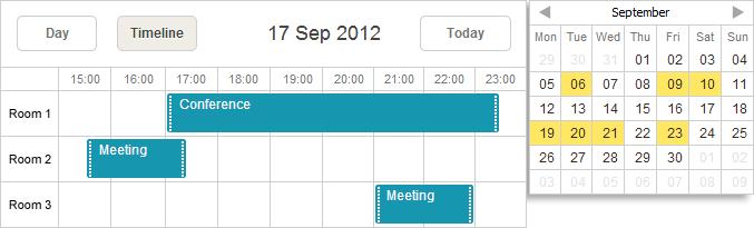 Calendar Planner Nodejs : Mini calendar scheduler docs